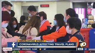 Coronavirus affecting travel plans for millions