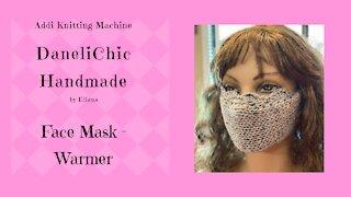 Face Mask // Warmer Addi Knitting Machine Crochet Knit - Video Tutorial DIY Instructions Pattern