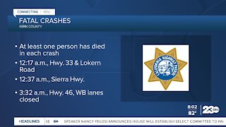 Three fatal crashes in Kern County