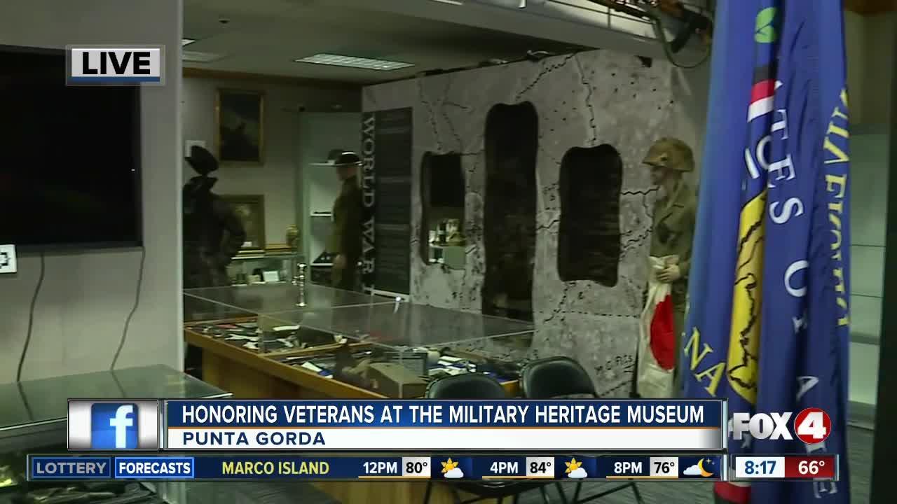 Honoring veterans at the Military Heritage Museum in Punta Gorda