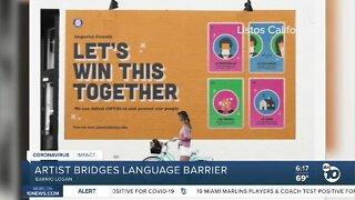 Artist bridges language barrier
