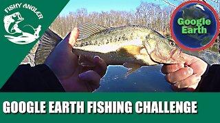 Fishing hidden pond. Google Earth 🌍 fishing challenge (Pleasantly surprised)
