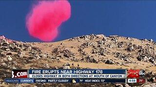 Fire Erupts Near Highway 78