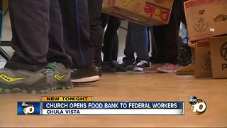 Church opens food bank to federal workers