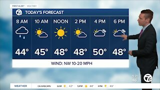 Metro Detroit Forecast: Much colder today; even colder tomorrow