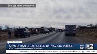 Armed man shot, killed by Navajo police