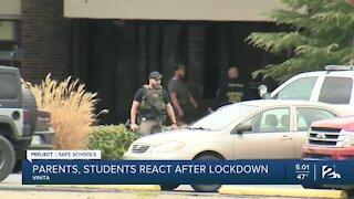 Parents react after lockdown at Vinita High School