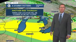Stormy pattern develops
