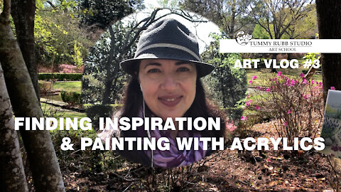 VLOG # 3: Finding Inspiration and Painting a Landscape with Golden Open acrylics