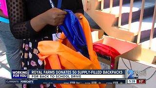 Royal Farms donates 50 supply-filled backpacks for back-to-school drive