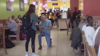 Guy proposes. Girl thought they were friends. Ouch!