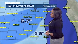 Snowstorm moves across Wisconsin