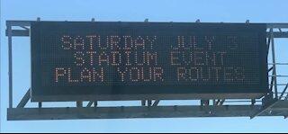 Independance Day Weekend events cause road closures near Allegiant Stadium