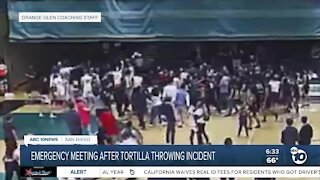 Tortilla-throwing incident to be discussed in emergency meeting