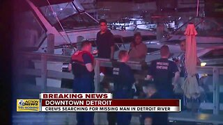 Crews searching for missing man in Detroit River