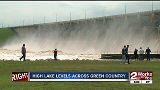 High lake levels across Green Country