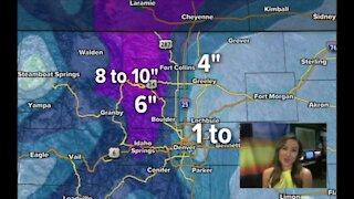 Katie LaSalle 11:45 a.m. update on upcoming snow storm