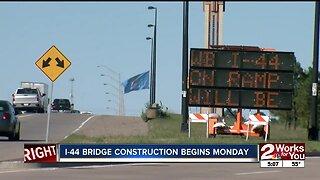 I-44 bridge construction begins Monday
