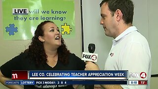 Lee County celebrating Teacher Appreciation Week - 8am live report