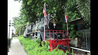 Former JNR Locomotive on display