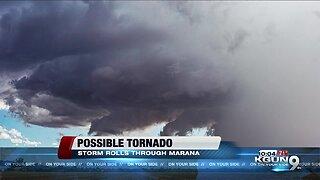 Brief storm brings possible tornado through Marana