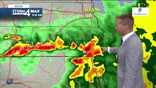 Friday storms move out, heat moves in