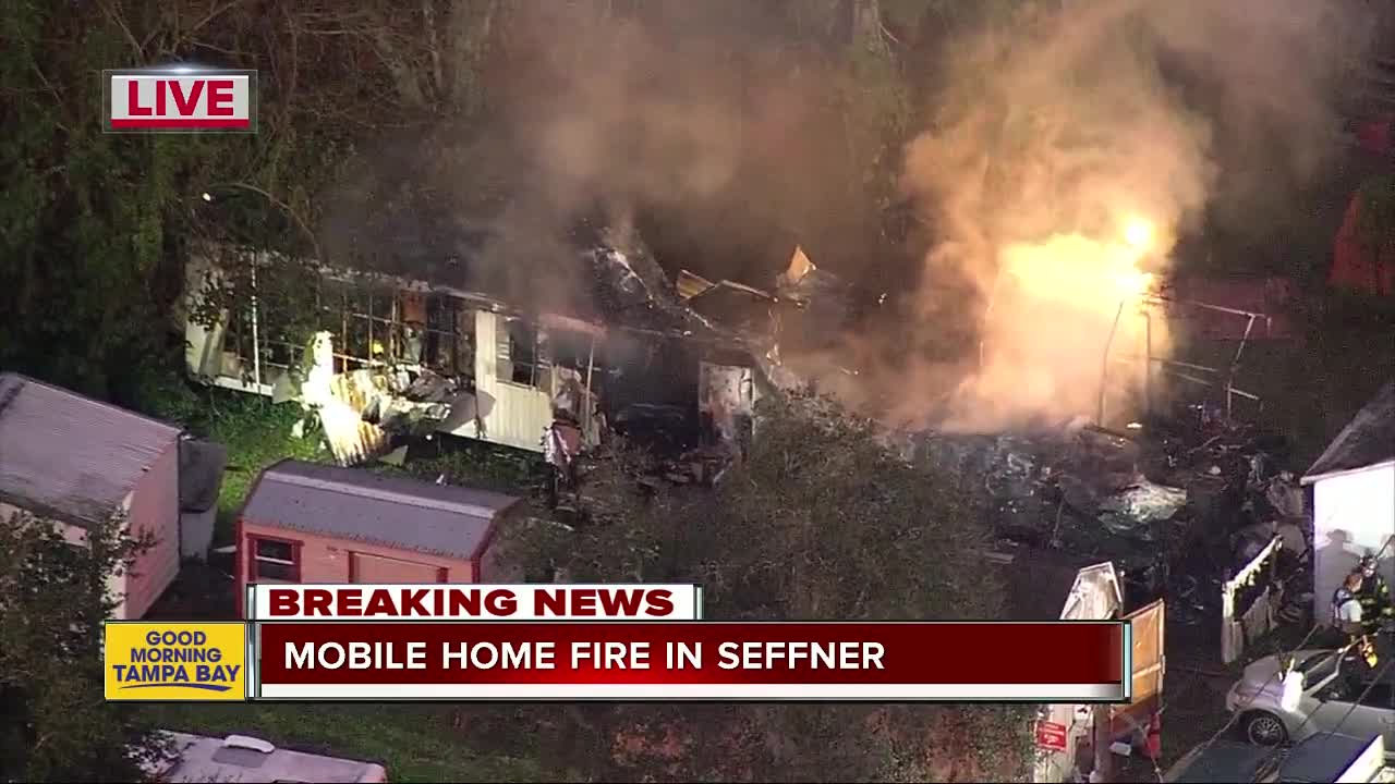 Mobile home fire in Seffner