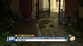 Water rupture causes millions of dollars in damage