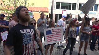 People protest against Boise Mayor's mask mandate