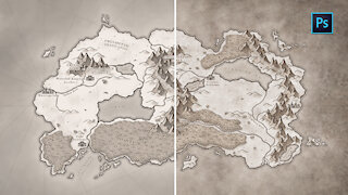 How to add PAPER TEXTURES to MAPS   Photoshop Tutorial