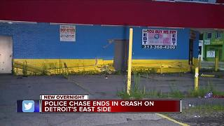 Police chase ends in crash on Detroit's east side