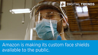 Amazon is making its custom face shields available to the public.
