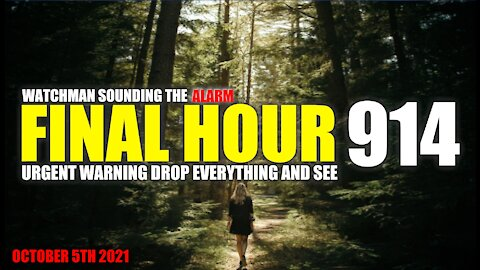 FINAL HOUR 914 - URGENT WARNING DROP EVERYTHING AND SEE - WATCHMAN SOUNDING THE ALARM