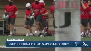 Union football prepares for season amid uncertainty