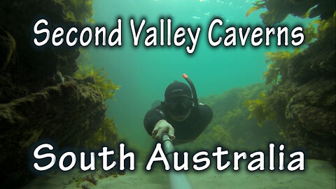 Freediving Second Valley Caverns, South Australia