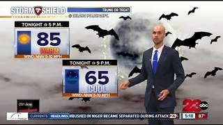 A warm weekend ahead before a CHILLY Halloween!