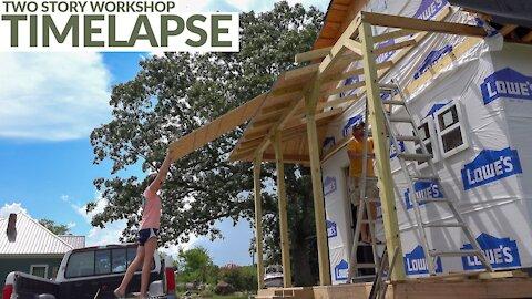 Barn Workshop Build Time-lapse
