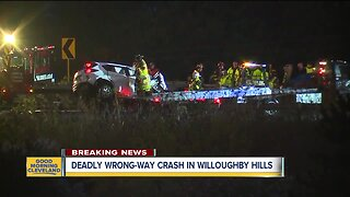 One dead, five injured after suspected wrong-way driver crash in Willoughby Hills