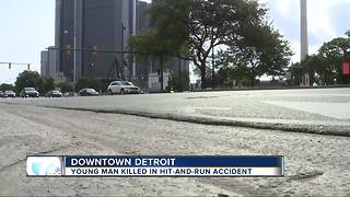 Detroit police search for hit-and-run driver that killed man downtown