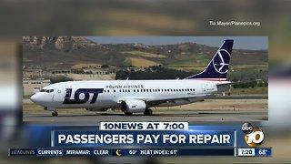 Passengers pay for jet repair?
