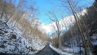 Snowy Appalachian Mountain Roads in 4K