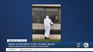 Romulus man honored for giving back
