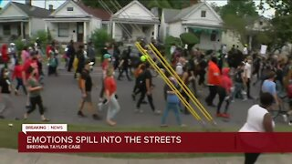 Emotions spill into the streets following Breonna Taylor decision