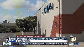 Businesses looking for financial help from county