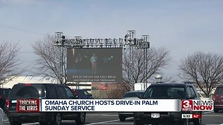 Omaha church hosts drive-in Palm Sunday service