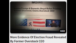 More Evidence Of Election Fraud Revealed By Former Overstock CEO