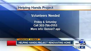 Helping Hands project renovating home