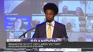 Brandon Scott declares mayoral victory