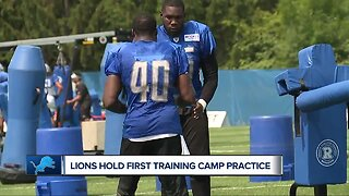 Lions hold first training camp practice