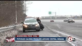 Potholes causing flat tires on I-465